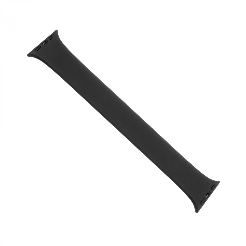 Levně Elastický silikonový řemínek FIXED Silicone Strap pro Apple Watch 38/40mm, velikost L, černá