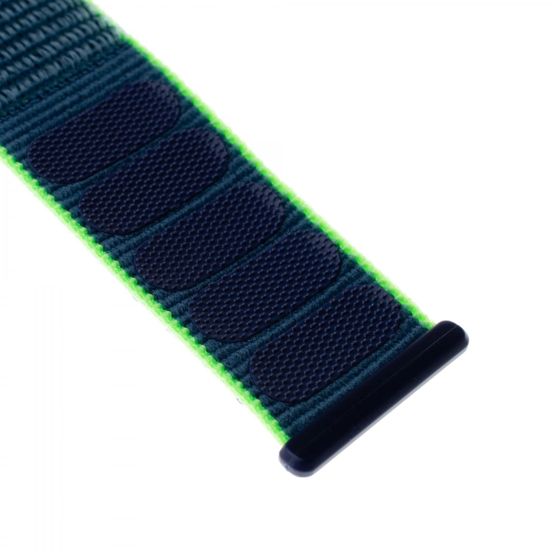 Nylonový řemínek FIXED Nylon Strap pro Apple Watch 44mm/ Watch 42mm, neonově modrá