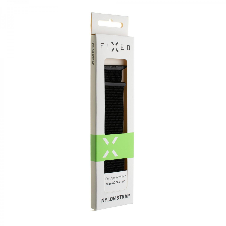 Nylonový řemínek FIXED Nylon Strap pro Apple Watch 44mm/ Watch 42mm, duhová