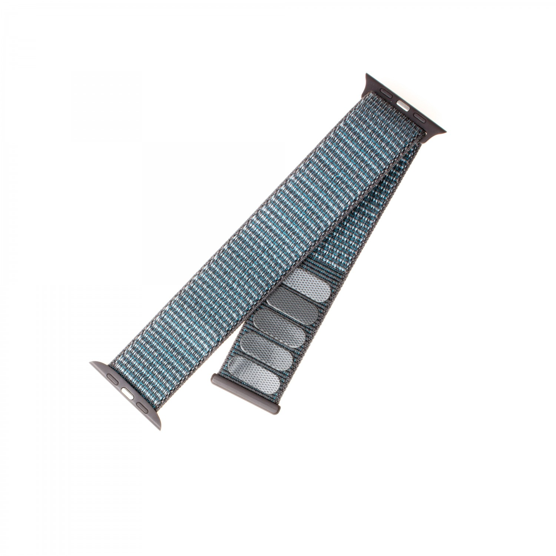 Nylonový řemínek FIXED Nylon Strap pro Apple Watch 44mm/ Watch 42mm, temně šedá
