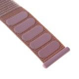 Nylonový řemínek FIXED Nylon Strap pro Apple Watch 44mm/ Watch 42mm, růžově zlatá