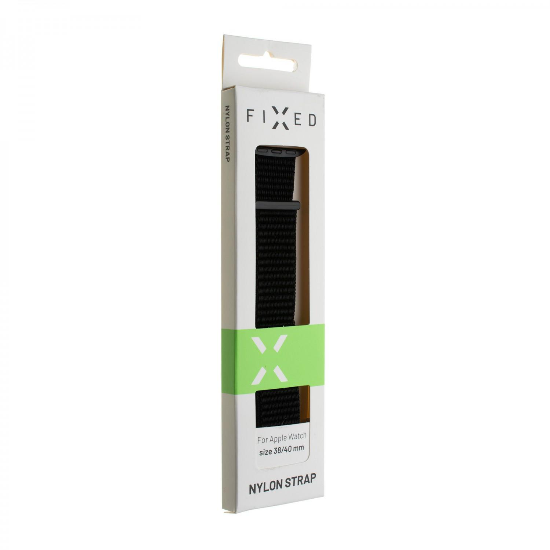 Nylonový řemínek FIXED Nylon Strap pro Apple Watch 40mm/ Watch 38mm, bílá