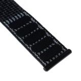 Nylonový řemínek FIXED Nylon Strap pro Apple Watch 40mm/ Watch 38mm, reflexně černá