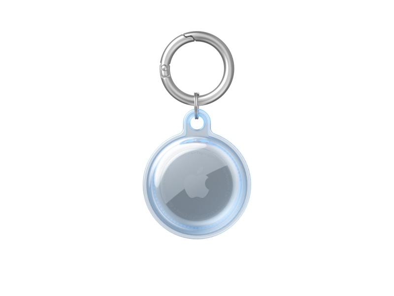 Silikonový ochranný kryt TPU Transparent Protective Cover pro Apple AirTag, blue