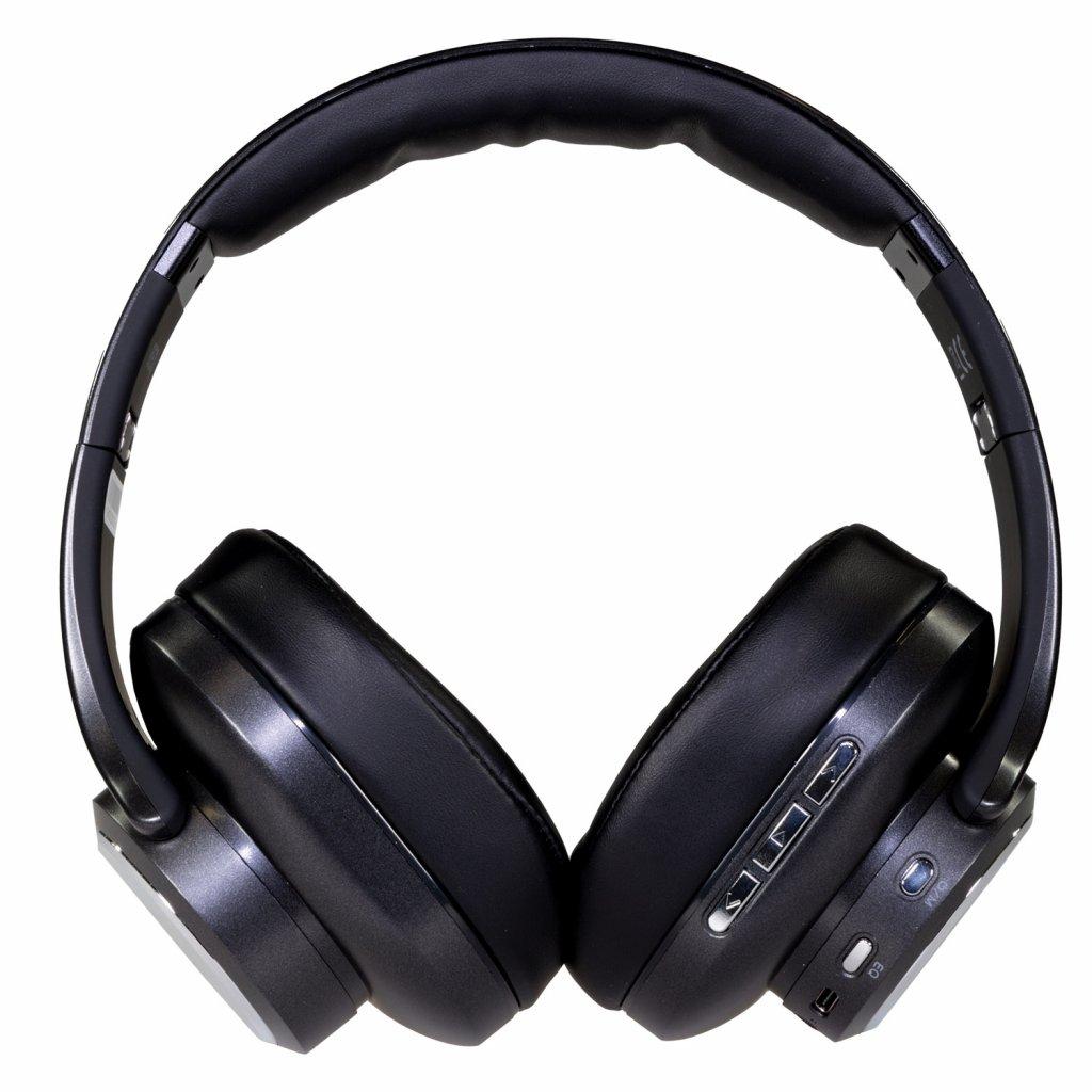 Bluetooth sluchátka EVOLVEO SupremeSound 8EQ s reproduktorem a ekvalizérem 2v1, černá