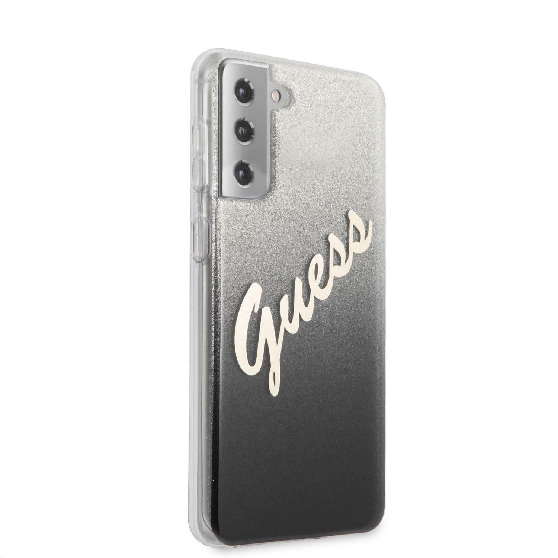 Zadní kryt Guess PC/TPU Vintage GUHCS21MPCUGLSBK pro Samsung Galaxy S21+, černá