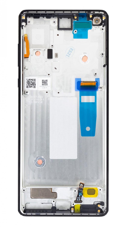 LCD + dotyk + přední kryt pro Motorola Edge Plus, black (Service Pack)