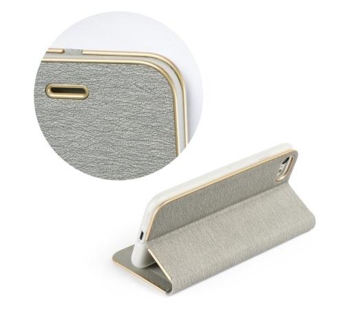Flipové pouzdro Forcell Luna Book pro Xiaomi Redmi Note 10 5G/POCO M3 Pro/POCO M3 Pro 5G, stříbrná