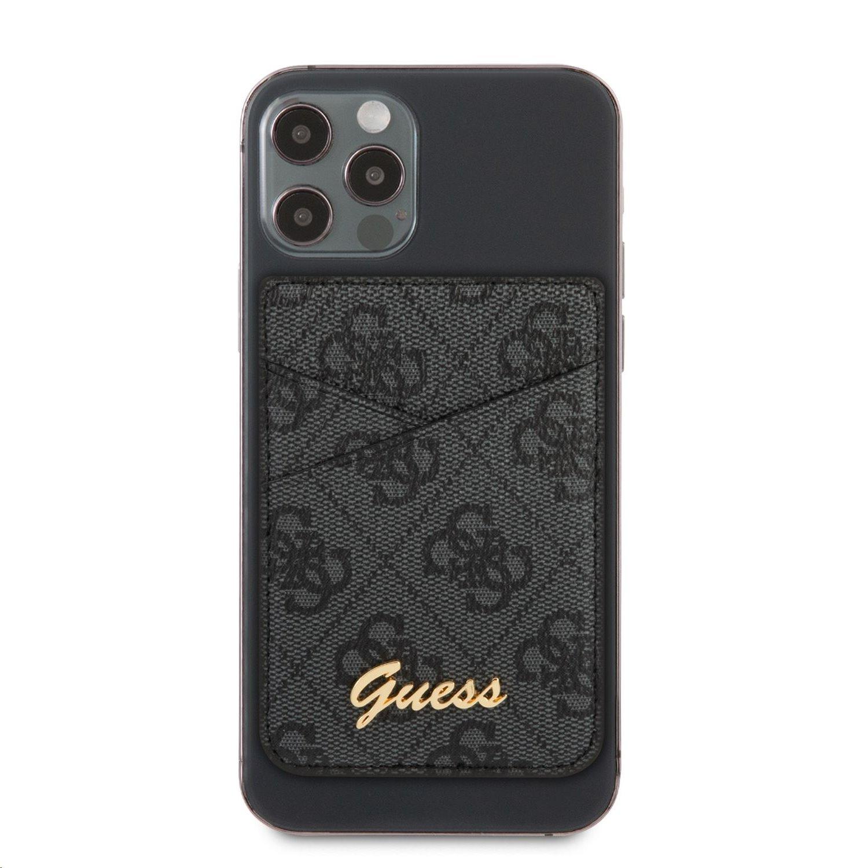 Pouzdro Guess 4G Magnetic Cardslot Triangle Logo GUWMS4GTLBK, šedá