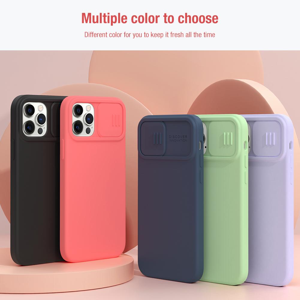 Silikonový kryt Nillkin CamShield Silky Magnetic pro Apple iPhone 12 Pro Max, nachová