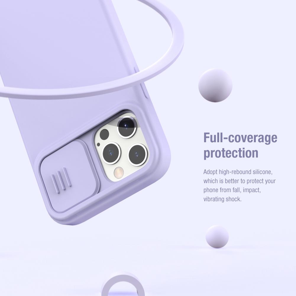 Silikonový kyt Nillkin CamShield Silky pro Apple iPhone 12/12 Pro, nachová