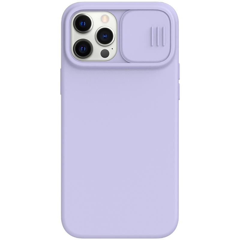 Silikonový kryt Nillkin CamShield Silky Magnetic pro Apple iPhone 12/12 Pro, nachová