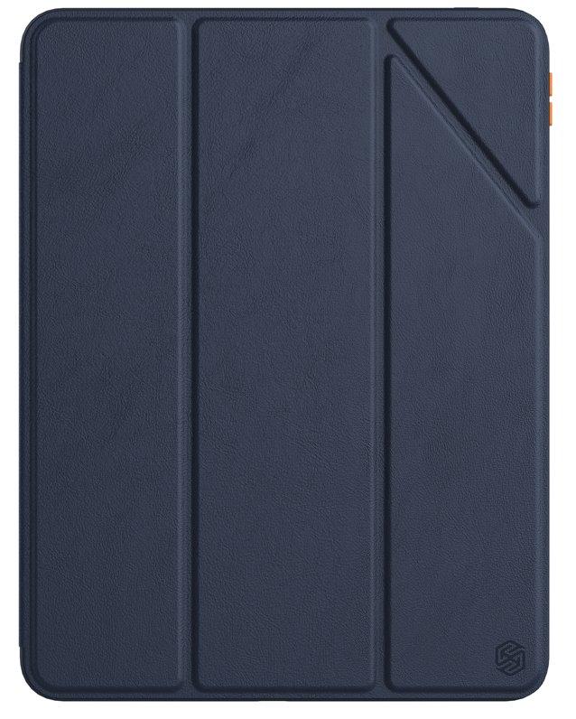 Flipové pouzdro Nillkin Bevel Leather Case pro iPad Pro 11 2020/2021, půlnoční modrá