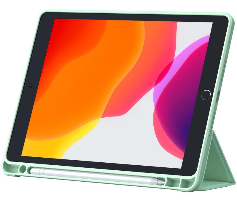 Flipové pouzdro Nillkin Bevel Leather Case pro iPad Air 10.9 2020/Air 4, matcha zelená