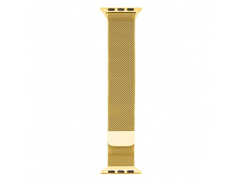 Kovový řemínek COTEetCI Stainless Steel Magnet Band pro Apple Watch 38/40mm, zlatá