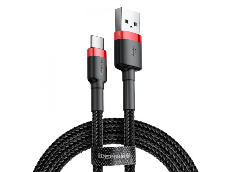 Datový kabel Baseus Cafule Cable USB pro Type-C 2A 2M, černá/červená
