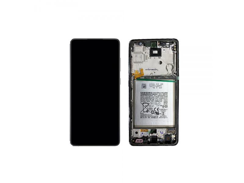 LCD + dotyk + rámeček pro Samsung Galaxy A72 4G/5G 2021 LCD, blue ( Service Pack )