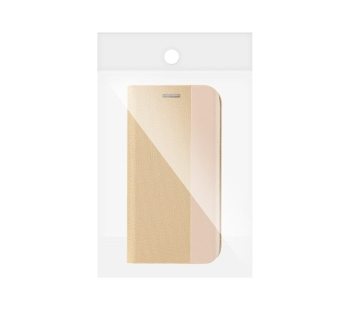 Flipové pouzdro SENSITIVE pro Samsung Galaxy A22, zlatá