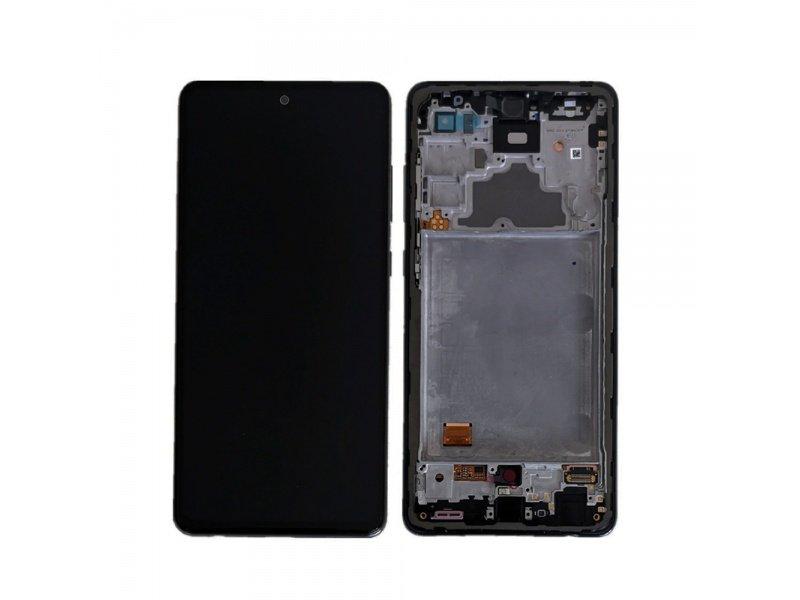 LCD + dotyk + rámeček pro Samsung Galaxy A72 4G, awesome black ( Service Pack )