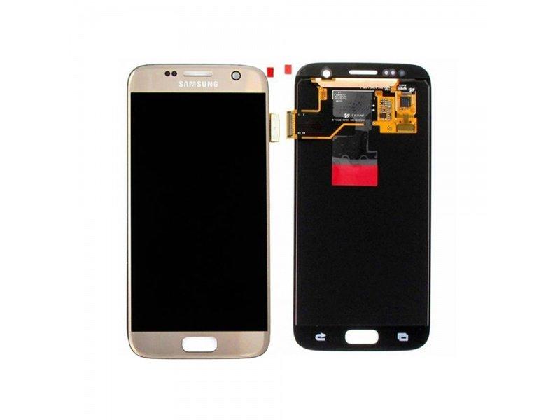 LCD + dotyková deska pro Samsung Galaxy S7, gold ( Service Pack )