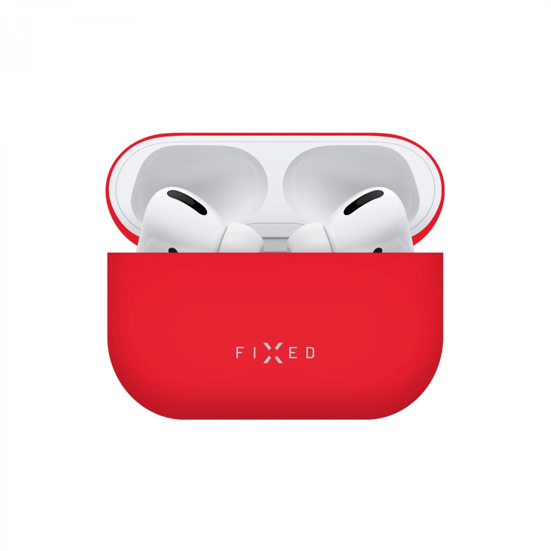 Ultratenké silikonové pouzdro FIXED Silky pro Apple Airpods Pro, červená