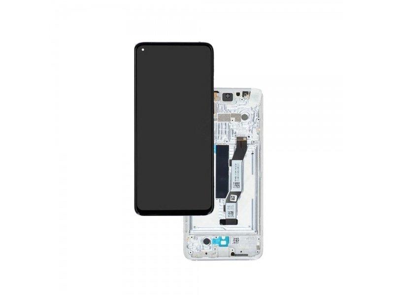 LCD + dotyk + rámeček pro Xiaomi Mi 10T / Mi 10T Pro, silver ( Service Pack )