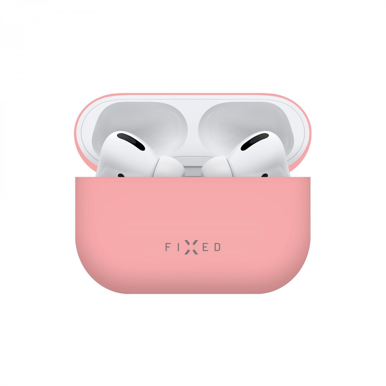 Ultratenké silikonové pouzdro FIXED Silky pro Apple Airpods Pro, růžová