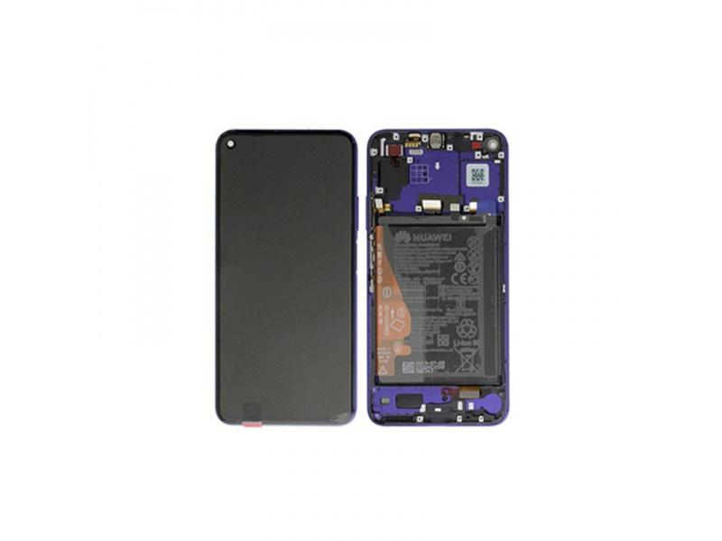 LCD + dotyk + rámeček + baterie pro Honor 20 / Huawei Nova 5T, midsummer purple ( Service Pack )