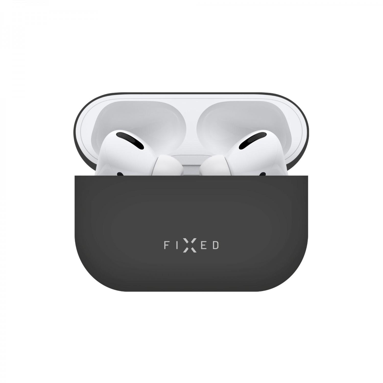 Ultratenké silikonové pouzdro FIXED Silky pro Apple Airpods Pro, černá