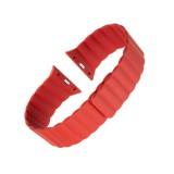 Silikonový řemínek FIXED Magnetic Strap s magnetickým zapínáním pro Apple Watch 42 mm/44 mm, červená