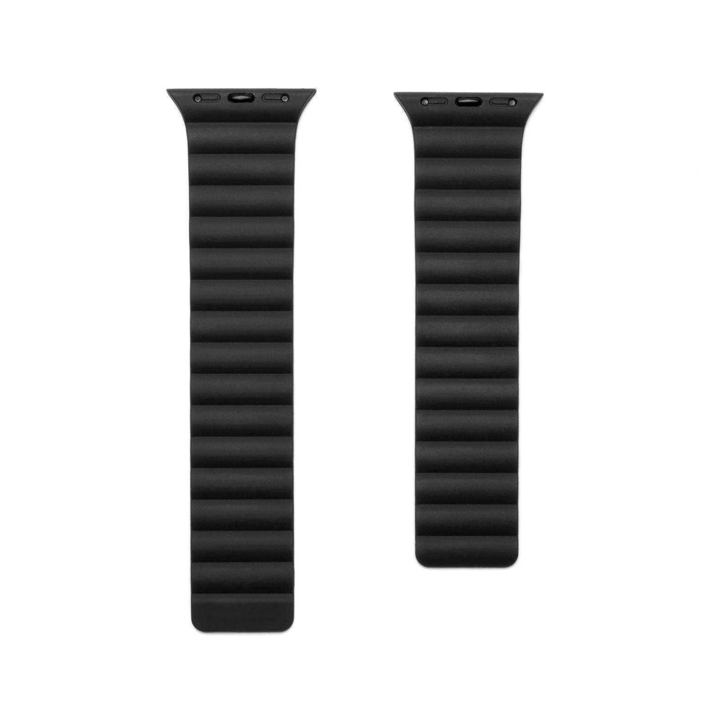 Silikonový řemínek FIXED Magnetic Strap s magnetickým zapínáním pro Apple Watch 38 mm/40 mm, černá