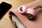 Silikonové pouzdro s popruhem FIXED Silky pro Apple AirTag, růžová
