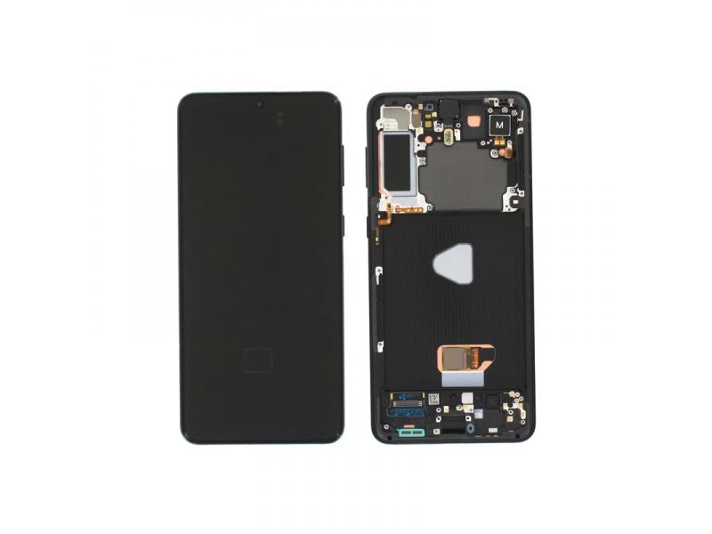 LCD + dotyk + rámeček pro Samsung Galaxy S21+ 5G, phantom black ( Service Pack )