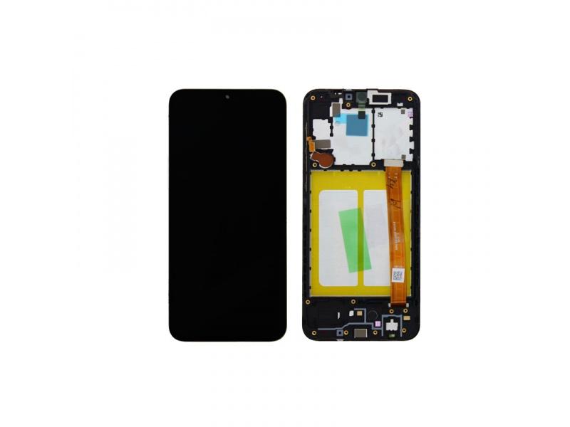 LCD + dotyk + rámeček pro Samsung Galaxy A20s, black ( Service Pack )