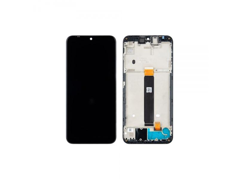 LCD + dotyk + rámeček pro Motorola Moto E6 Plus, black ( Service Pack )