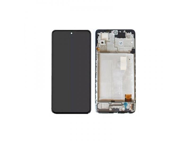 LCD + dotyk + rámeček pro Xiaomi Redmi Note 10 Pro, black tarnish ( Service Pack )