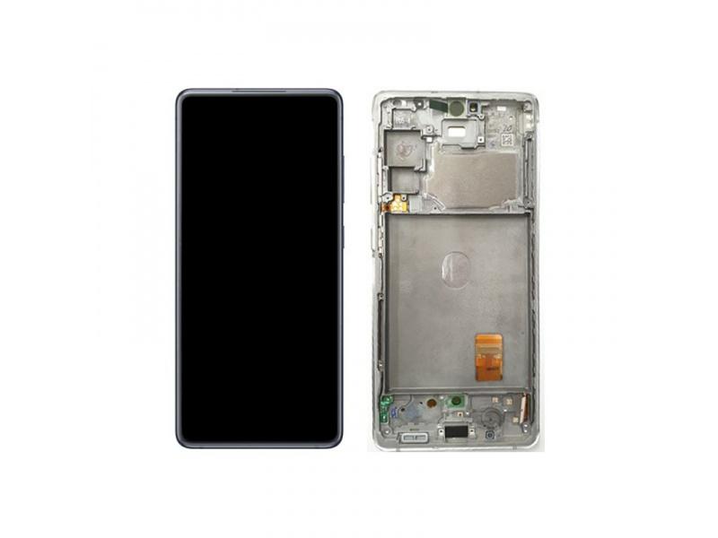 LCD + dotyk + rámeček pro Samsung Galaxy S20 FE 5G, cloud white ( Service Pack )