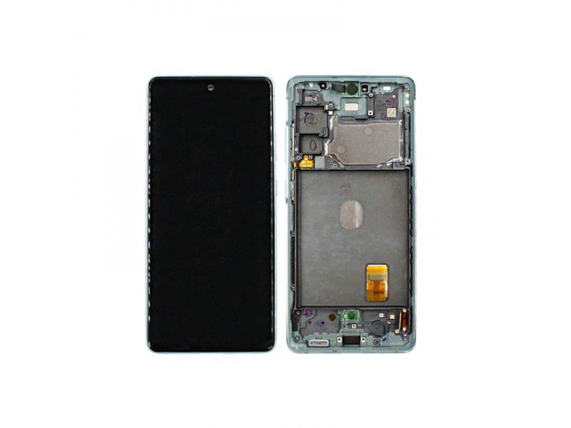 LCD + dotyk + rámeček pro Samsung Galaxy S20 FE 4G, cloud mint ( Service Pack )