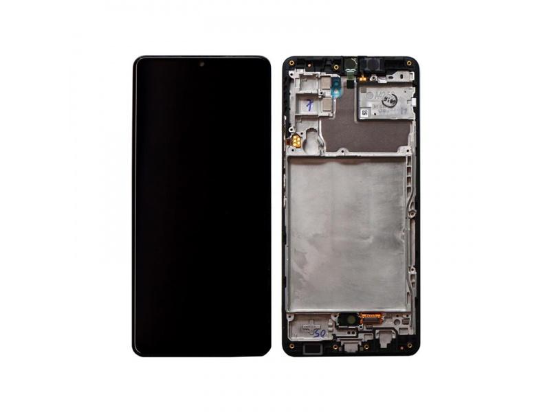 LCD + dotyk + rámeček pro Samsung Galaxy A42 5G, prism dot black ( Service Pack )