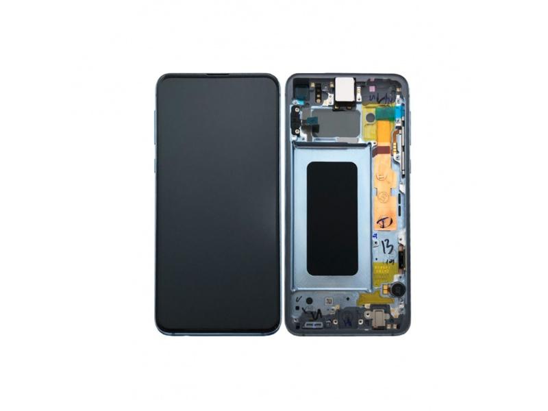 LCD + dotyk + rámeček pro Samsung Galaxy S10+, prism blue ( Service Pack )