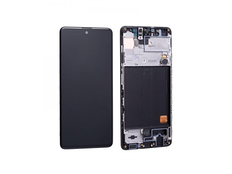 LCD + dotyk + rámeček pro Samsung Galaxy A51 5G, black ( Service Pack )