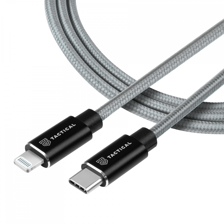 Kabel Tactical Fast Rope Aramid Cable USB-C/Lightning MFi 2m, šedá