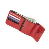 Kožená peněženka FIXED Smile Classic Wallet se smart trackerem FIXED Smile PRO, červená