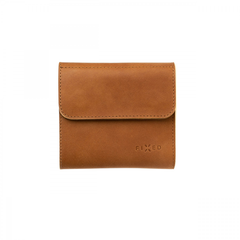 Kožená peněženka FIXED Smile Classic Wallet se smart trackerem FIXED Smile PRO, hnědá