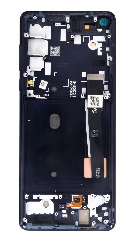 LCD + dotyk + přední kryt pro Motorola Edge, black (Service Pack)