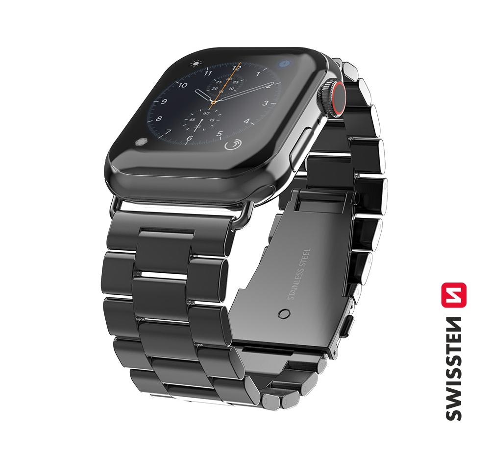 Kovový řemínek Swissten pro Apple Watch 38-40mm, černá