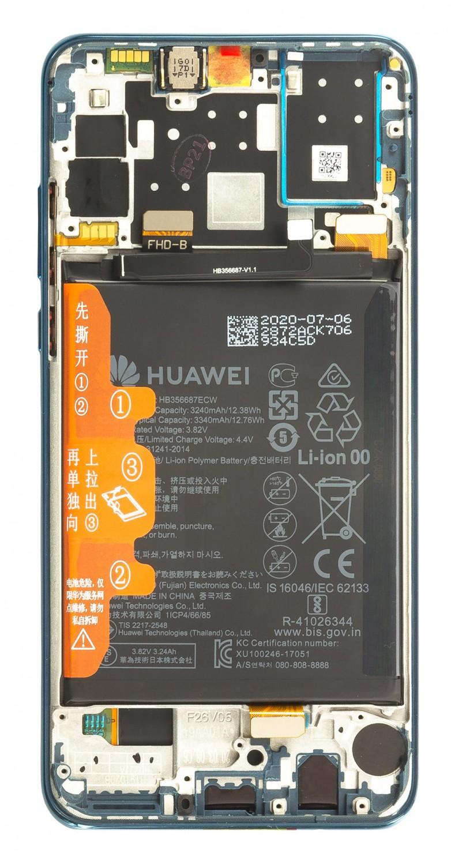 LCD + dotyk + přední kryt + baterie pro Huawei P30 Lite 2020 New Edition, blue ( Service Pack )