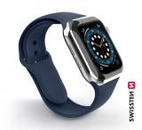 Silikonové pouzdro Swissten pro Apple Watch 42-44 mm, modrá