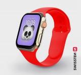 Silikonové pouzdro Swissten pro Apple Watch 42-44mm, červená