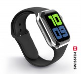 Silikonový řemínek Swissten pro Apple Watch 42-44mm, černá
